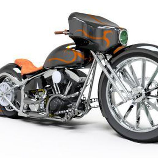 choper harley.JPG Download free STL file HARLEY DAVINSON CHOPER • 3D printer object, santiagoruge362