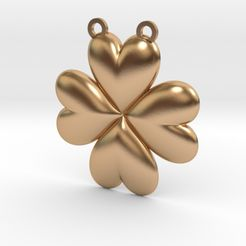 clover.jpg Download STL file Clover Heart Pendant • 3D printing object, iagoroddop