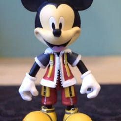 Untitled.png Download free STL file Kingdom Hearts Mickey Mouse • Model to 3D print, RyanTheMast