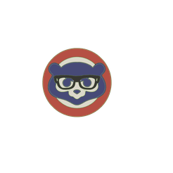 Chicago-Cubs-logo-bear-glasses-v1.png Download STL file Chicago Cubs logo 2d bear with Harry Caray Glasses wall hanging • 3D print model, jwmustanggt