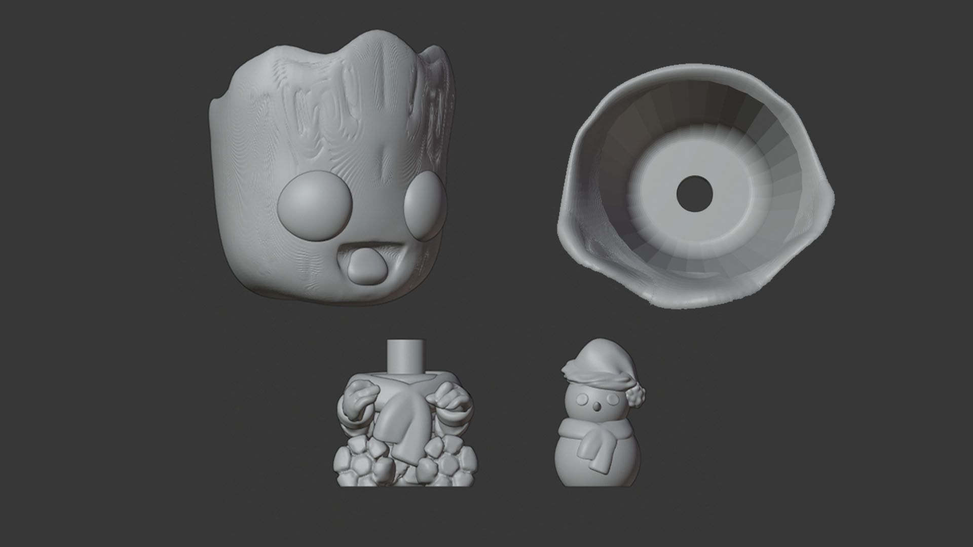 Baby Groot 02_3.jpg Download STL file Baby Groot Pot and Baby Yoda Christmas • Object to 3D print, Markdejavu