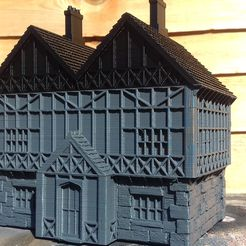 20180902_142321.jpg Download free STL file Tudor Style Manor House • 3D printer object, Wrecker