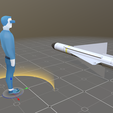 10a.png Download 3DS file Matra 530 Air to Air Missile • 3D printable model, SimonTGriffiths