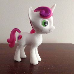IMG_0958.JPG Download free STL file Sweetiebelle MLP Pony • 3D printer model, arcandg
