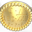 rome21.png Download OBJ file Replica of an officer's signet ring of the Roman legion • 3D printer template, plasmeo3d