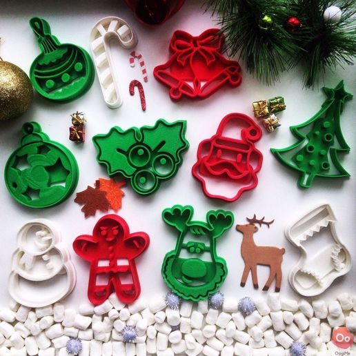 christmas_collection.jpg Download free STL file Christmas Ornament Cookie Cutter • 3D print object, OogiMe