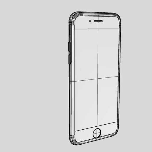 9.jpg Download STL file Nurbs Apple Iphone 6 - 6s • Object to 3D print, uzzy3d