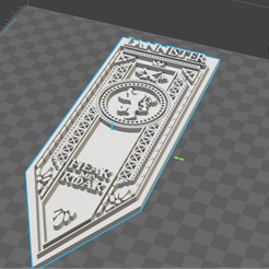 snapshot1.png Download STL file Banner house Lannister, Game Of Thrones • 3D printing template, De_Ideas_3D