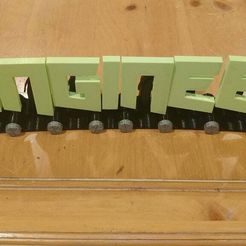 2018-02-26_22.15.17.jpg Download free STL file Gingineer / Engineer / Ginger Modular Name Plate • Template to 3D print, CWeb_The_Gingineer