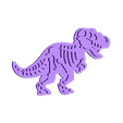 t-rex body.stl Download STL file T-rex; stegosaurus and triceratops cookie cutter • 3D printable design, ichano