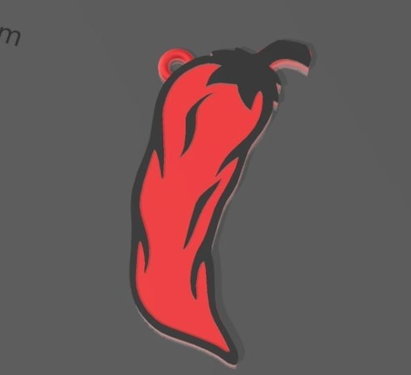 Chile 1.jpg Download STL file Jalapeño pepper keychain • Object to 3D print, The_Rocketeer