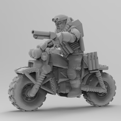 jackal1.png Download free STL file Jackal biker • Object to 3D print, KarnageKing