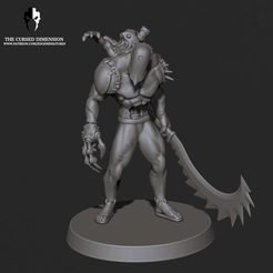 MMF_05.png Download STL file Monstrosity 05 - Cursed Elves • 3D print template, edgeminiatures