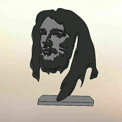 zcsd.jpg Download STL file Face of Jesus • Template to 3D print, LuisCrown
