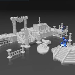 NewCanvas12.png Download STL file Prototypical Alien Ancient Ruins. • 3D printer object, El_Mutanto