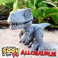 Boon_Allosaurus_4.jpg Download free STL file Boon the Tiny T. Rex: Allosaurus UpKit (Arms ONLY) - 3DKitbash.com • Model to 3D print, Quincy_of_3DKitbash