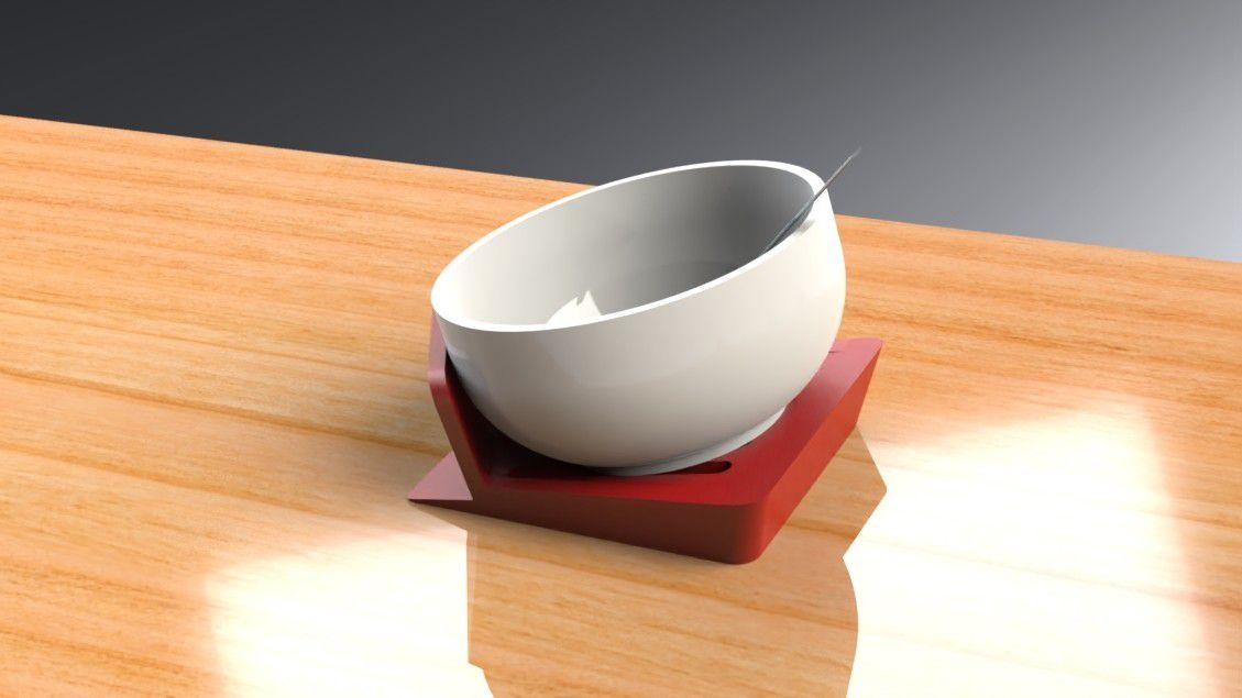 Tilt-A-Bowl Stand (5).jpg Download free STL file Tilt-A-Bowl Stand for individuals with limited to no mobility • 3D printable object, Trikonics
