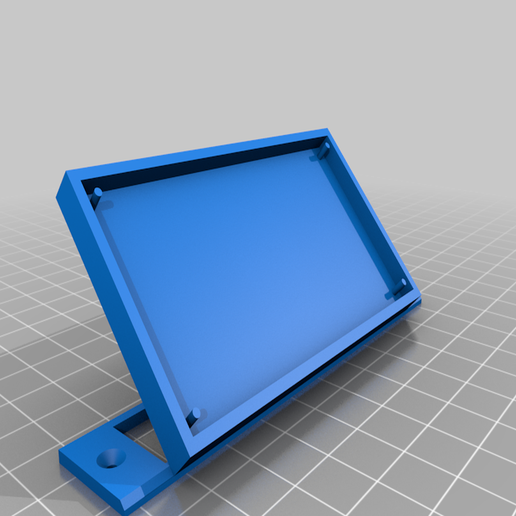 support_lcd_v3.png Download free STL file PLA housing for Grove LCD 16x2 • 3D printing template, davallot
