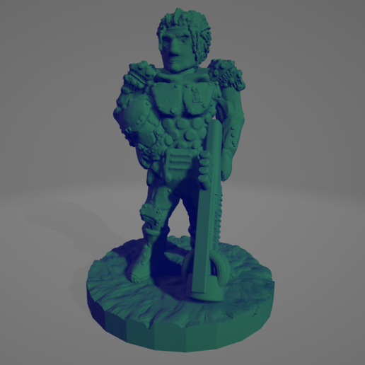 Space Colony Military Commander.png Download STL file Space Colony Military Commander • 3D printing object, Ellie_Valkyrie