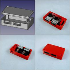 usb_charger.jpg Download free STL file Box for USB step down module, charger • 3D print design, micolo