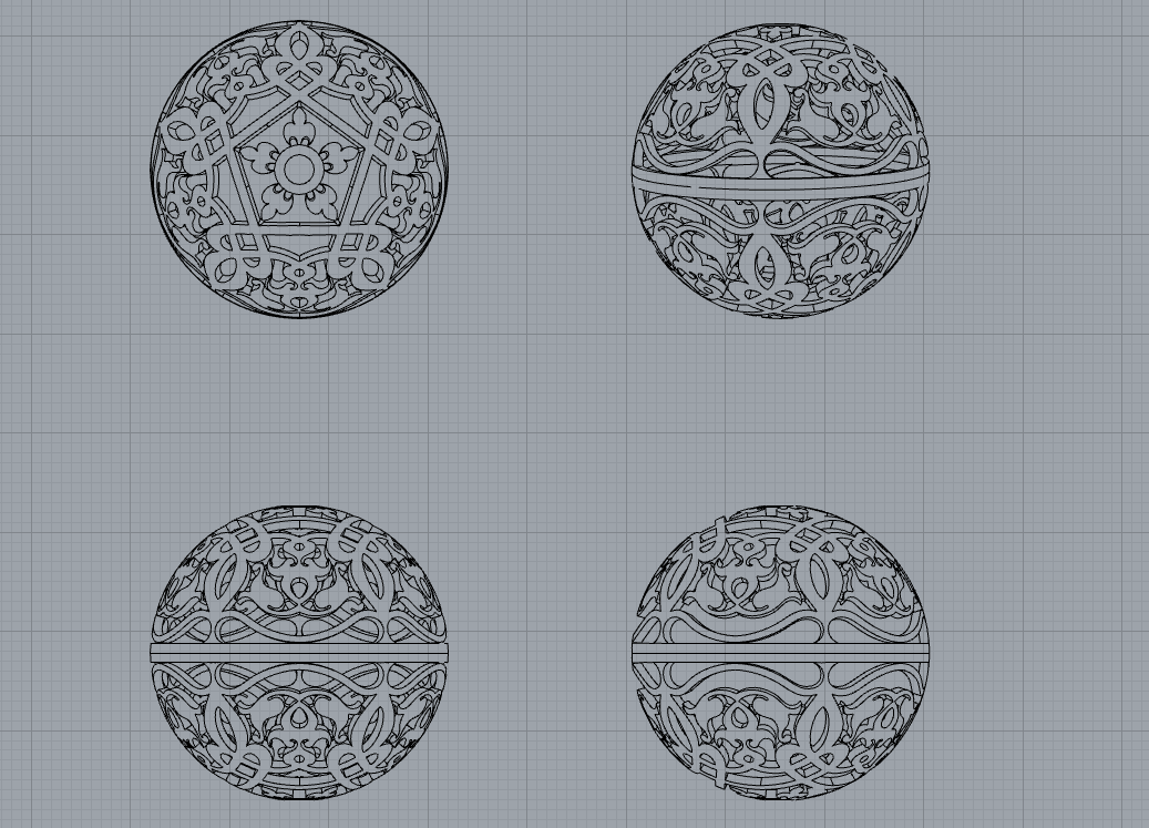Ornament Ball 30mm.PNG Download STL file Ornament bull • Object to 3D print, allaG