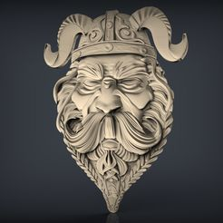 267.jpg Download free STL file viking warrior face bust cnc art • 3D printing model, 3Dprintablefile