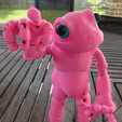 4.png Download free STL file Froggy: the 3D printed ball-jointed frog doll • Object to 3D print, loubie