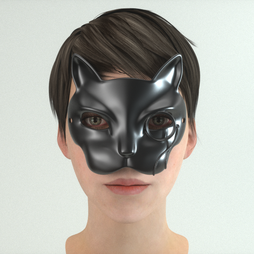carnival _mask_20_04_0000.png Download STL file Carnival Mask Collection 7 pieces Masquerade facewear • 3D print template, polygonface