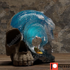 skull1.png Download STL file Cráneo surfista (serie1) • 3D printable object, tamaliteitor123