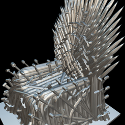 Screenshot_2019-09-09 Trono de hierro - Download Free 3D model by MundoFriki3D ( MundoFriki3D)(8).png Download free STL file Iron Throne • Model to 3D print, MundoFriki3D