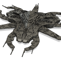 shutak-completed.png Download STL file Goa'uld Shu'tak Class Mothership • 3D printable model, abaialex2244