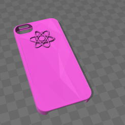 coque_rose.png Descargar archivo OBJ gratis Concha rosada Iphone 5 • Objeto imprimible en 3D, Yunorga