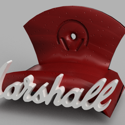 marshall v1.png Download free STL file MARSHALL STYLE HEADPHONE HOLDER • 3D printer template, Cris94
