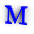 M3.png Download free STL file Letras / abecedario completo • Object to 3D print, Lubal