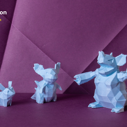 pokemon-low-poly016.png Download file Low Poly Pokemon Collection 151 • 3D printable object, 3D-mon