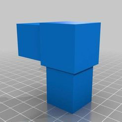 """Connector.jpg Download free STL file 1"""" x 1"""" x 1/16"""" Square Tubing Connector • 3D printing template, a154james"""