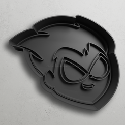 push-diseño.png Download STL file Robin from teen titans • 3D print design, escuderolu