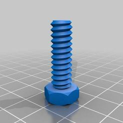 nut_job_20140919-18212-d8dhen-0.jpg Download free STL file Bolt for Small Spoolholder • Object to 3D print, rushmere3d