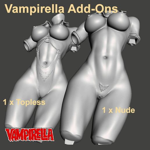 Image2.jpg Download STL file VAMPS 1,2 &3 - ADULT Add-Ons ONLY - by SPARX • 3D printing template, SparxBM