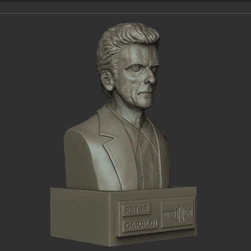 04.jpg Download STL file DOCTOR WHO PETER CAPALDI • 3D printer model, thierry3D