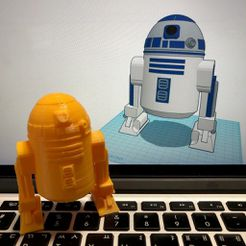 2c5dd88b37e60e7c6409401c7fd38c42_display_large.jpeg Descargar archivo STL gratis Simple R2D2 con Tinkercad • Plan de la impresora 3D, Eunny