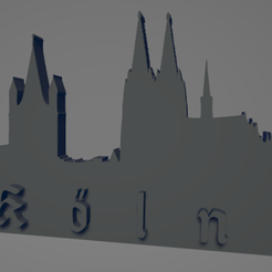 descarga - 2021-01-05T144005.048.png Download STL file Köln city keychain (silhouette) • 3D printer design, MartinAonL