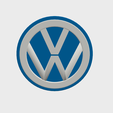 VW0.png Download STL file VW Badge • Object to 3D print, SimonTGriffiths