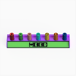 nweed cuadrada.png Télécharger fichier STL Porte-filtres / style NeedWeed • Modèle pour imprimante 3D, Weed420House