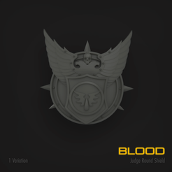 blood1.png Download STL file Blood ROUND JUDGE SHIELD • Object to 3D print, hpbotha