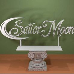 Sailor-Moon-Logo.jpg Download free STL file Sailor Moon Logo • Object to 3D print, AwesomeA