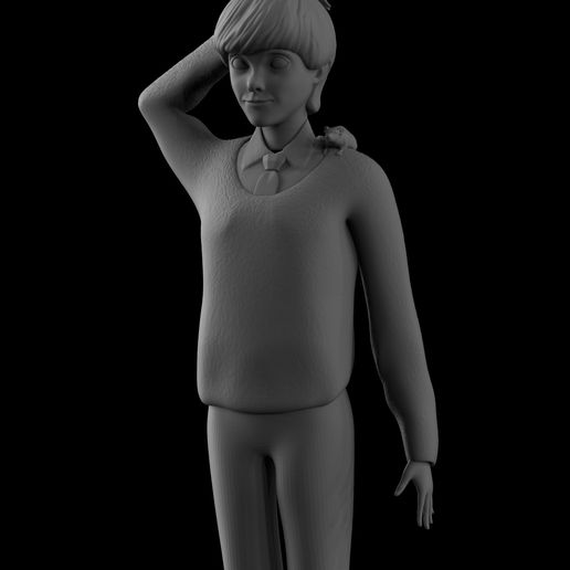 02.ron1.jpg Download OBJ file Ron Weasley • 3D printable template, Proyect3DPro
