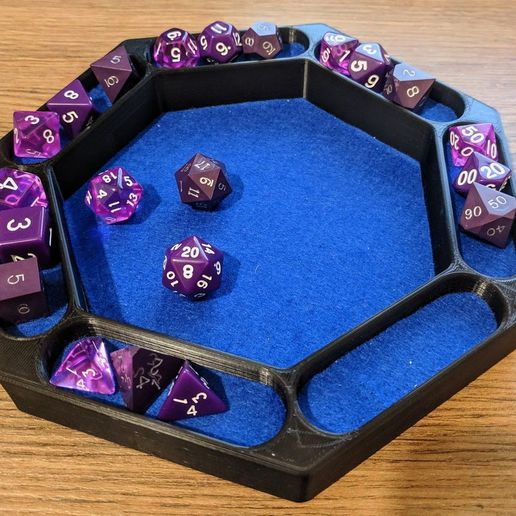 7_Sided_Dice_Tray.jpg Download free STL file 7 Sided Dice Tray • 3D printing object, roryjacobevans