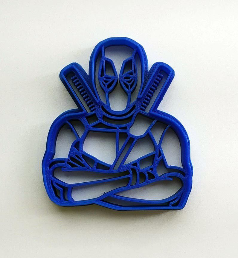 VYK-098-2.jpg Download STL file Cookie cutter Deadpool Marvel • Model to 3D print, Geek3Dprint