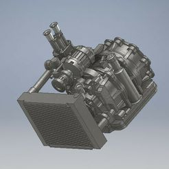052_Engine_rotary13B_IDA_NON_FILTER_Mazda_RX_052 (2).jpg Download STL file 13B engine with 48mm IdaDiecast Engine 1/64 Mazda RX7 • 3D printer template, PWLDC